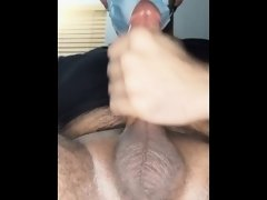 Quickly draining my big BROWN Cock!