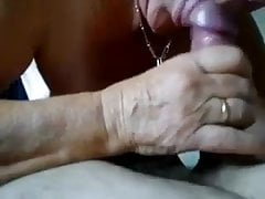 Even though she is old she still knows how to give a good bj