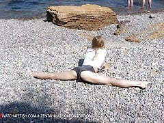 Day at the Sea with Contortion Star Tatjana