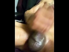 Amazing Cum Shot from oiled up Cock!