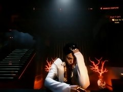 Exploring Cyberpunk 2077 street Gameplay Part 20 Meeting a princess